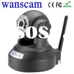 H.264 IR-CUT Dual Audio baby home security Pan/Tilt Wireles IP Camera With SD Card Slot