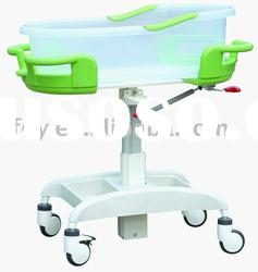 Hospital Infant bed baby Crib baby cart with Brake YEC-3