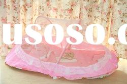 Hot Elegant Netting Bed Canopy Mosquito Net Pink Summer Portable Fold baby mosquito net Crib