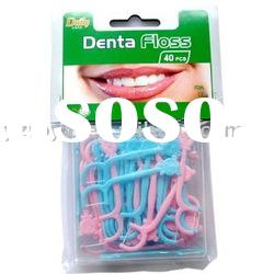 Kid Dental Floss picks C2040A (FDA) & 40 pcs kid dental floss picks/box