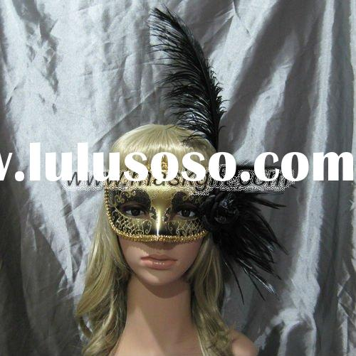 Mardi gras mask black and gold carnival theme masquerade mask party