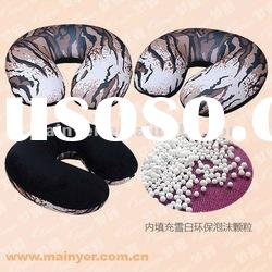 Microbead Travel Pillow Set, Neck Pillow/Square Cushion