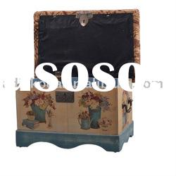 Multi-function wood stool with storage jewelry box