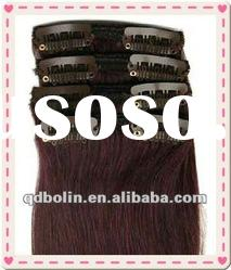 New Hot Sale 24 inch clip in human hair extensions