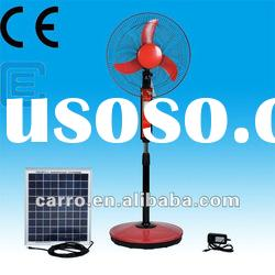 New camping professional rechargeable solar powered electric fan ventilation with LED light