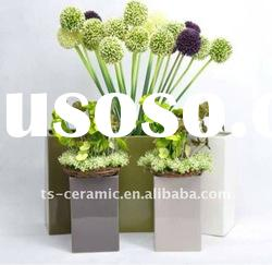 New style square glazed garden ceramic flower pot wholesale