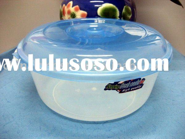 Plastic microwave food container(blue)