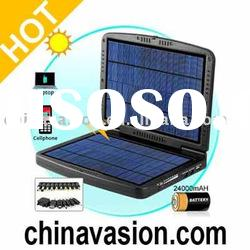 Portable Solar Battery Charger In Tough Clamshell Case