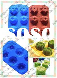 Six cups flower shaped Silicone Muffin Baking Mold