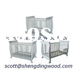 Solid Designer Sleigh Baby Cot 3 in 1