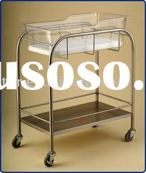 THR-B001 stainless steel hospital baby crib with shelf