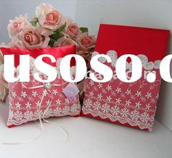 Textile Party decoration/ wedding supplies/wedding ring pillow/