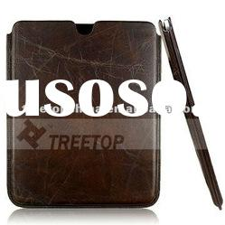 Top layer Genuine Leather case for new iPad--HOT SELLING !!!