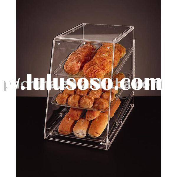 Vertical Acrylic Countertop Bakery Display Case,Acrylic Pastry Display