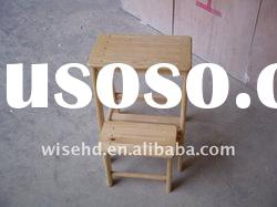 W-G-C1074 wood folding step stool