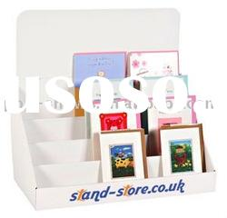 cardboard card holder,counter display rack