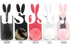 cell phone accessory mobile phone Rabbit Ears Silicon Case for IPhone4