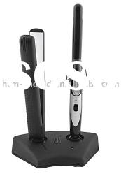 cordless hair straightener and hair curler in one set