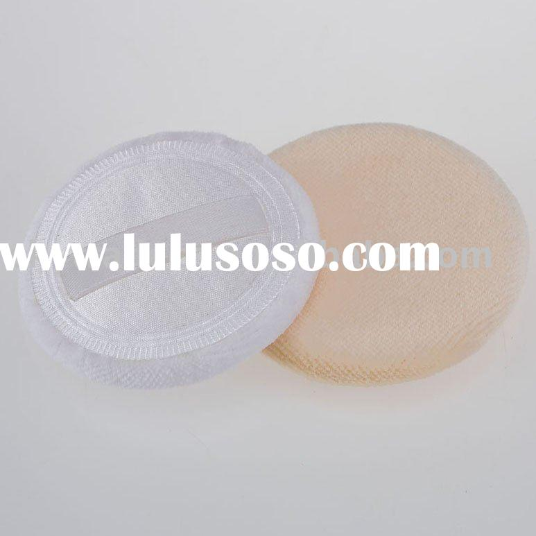 cosmetic powder puff in round shape