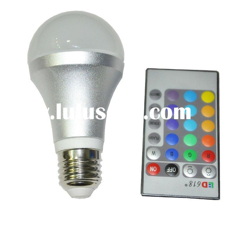 e27 3w led bulb rgb with remote control 220v