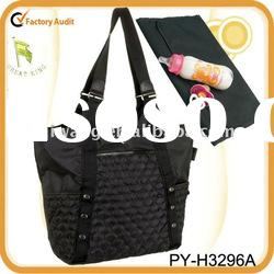 fashion quilted nylon tote baby diaper bag