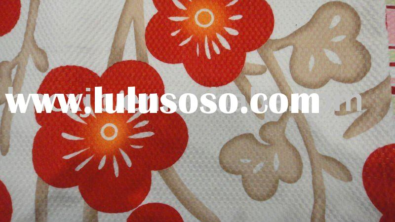 flower design curtain fabric/printed fabric items