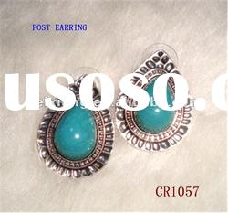 hot selling turquoise earrings for girl &woman wholesale price high qualitiy safe material .