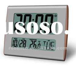 large size display LCD clock with time date and temperature