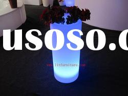 led high plastic round flower planter/vase/pot