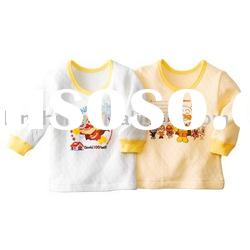 long sleeve new cotton baby t-shirt,baby wear
