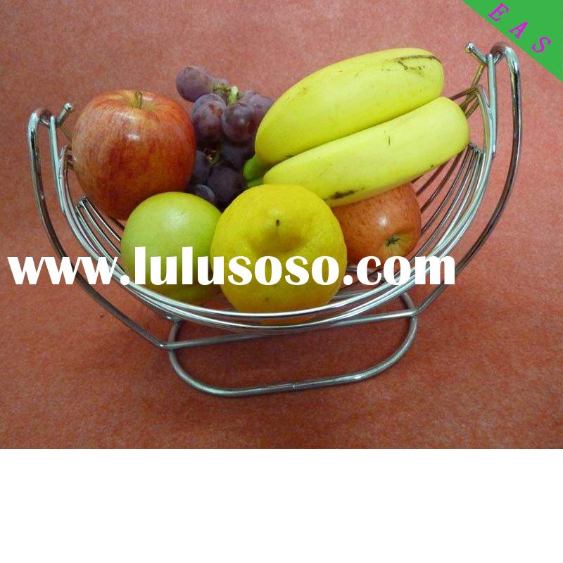 metal fruit display stand small fruit gift basket iron wire fruit holder