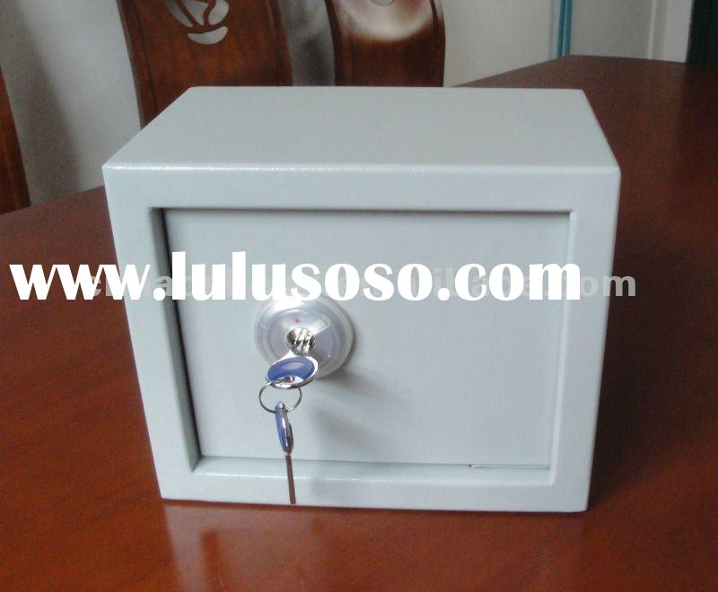 mini two key mechanical hidden home,office or hotel deposit safe box