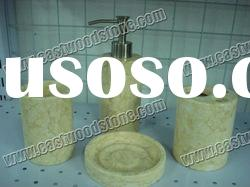 natural cream marble soap dish for bathroom