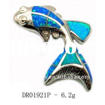 new design Blue Fire Opal 925 Silver Gemstone Ring Jewelry Blue opal jewelry, Pendant DR01921P