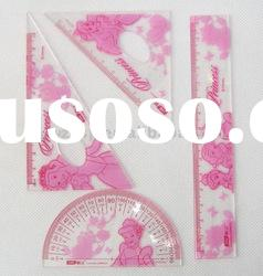 plastic student ruler set(4pcs)--NO.1 supplier in China