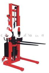 semi-electric stacker with long fork 1000kg 3000mm, battery forklift new type ecnomic price