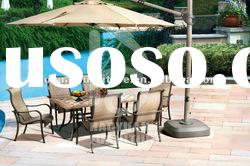 special design six chairs +one table mesh metal outdoor furniture