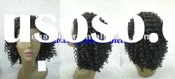 synthetic hair lace front wig/Africa curl wig
