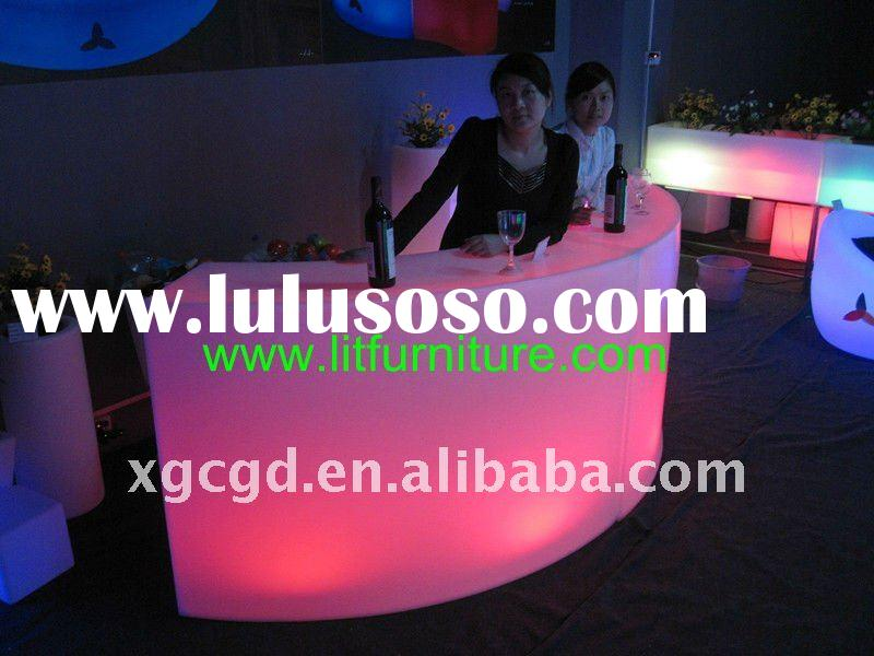 used home bar for sale/bar counter/plstic furniture/light up furniture/bar table and chair
