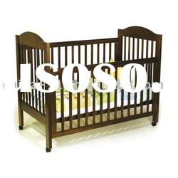 wooden baby cot bed/ wooden baby crib< nursery infant furniture