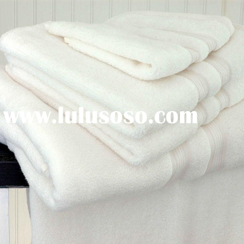 100% Cotton White Plain Terry Hotel Towel