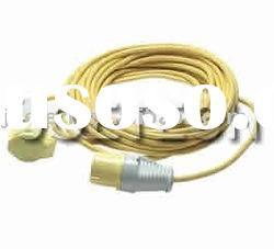 110V 16amp extension cord with CEE Plug and socket H05VV-F 3X1.5mm2 Yellow
