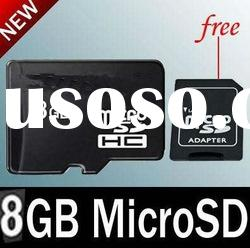 2011 NEW 8GB TF Memory Card +Adapter Micro SD Card