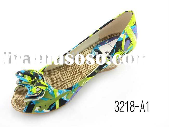 2011 the latest design women wedge shoes high heel shoes