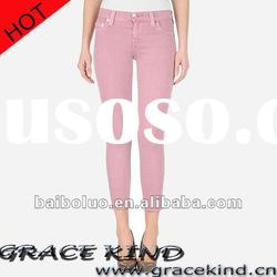 2012 Latest Design Colored Lady Pants ,Brand Denim Jeans for Women(GKMJ022204)