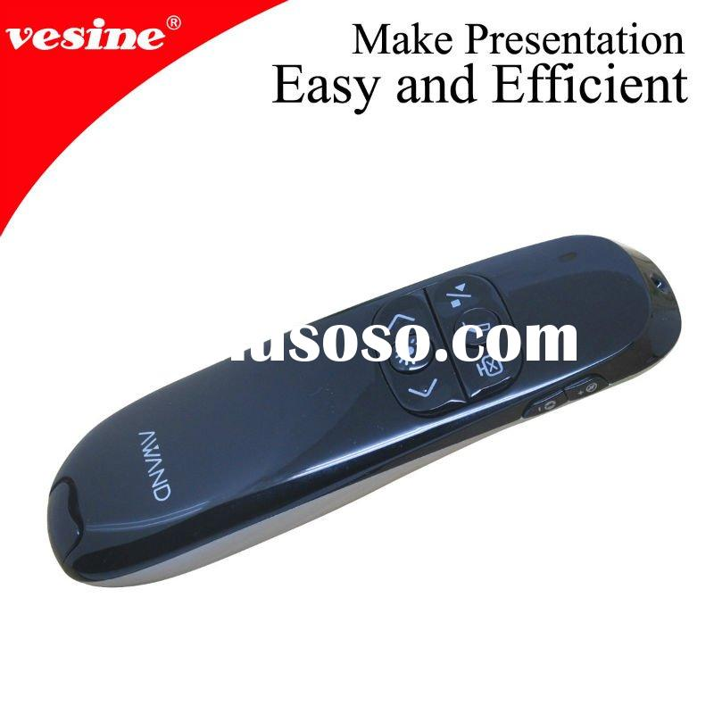 2012 NEW wireless air presenter mouse laser pointer red with gesture control function vp990