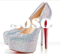 2012 new style crystal silver pumps shoes