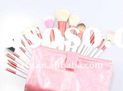 20 PCS MAKEUP ARTIST BRUSH SET ROLLUP BAG - PRETTY PINK/Makeup Brush