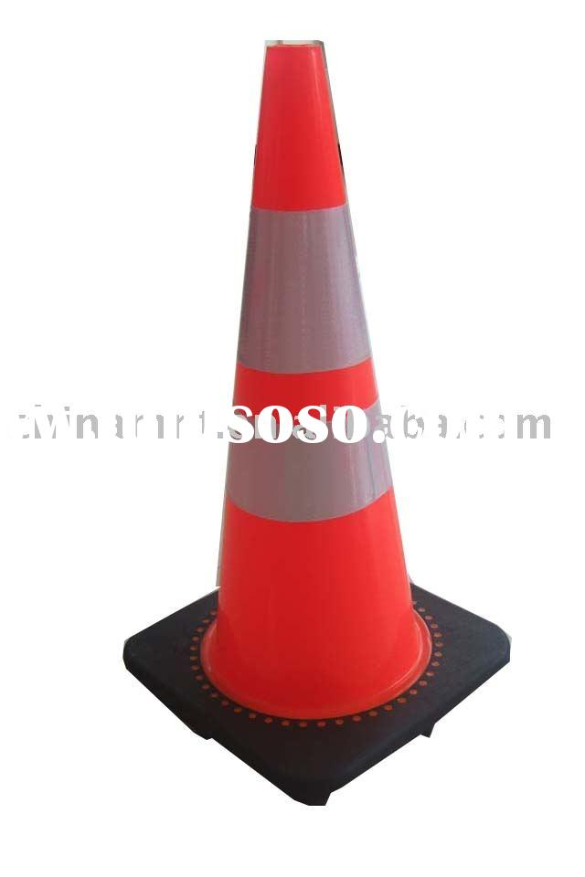 "28"" PVC Traffic Cone self-adhenvise reflective tape"
