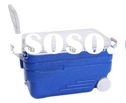 47L insulated plastic ice cooler box with the wheels